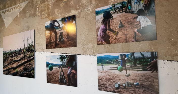 Imagens de tribos da Amazônia da exposição Amazonas, Moscou, 6 de junho de 2019