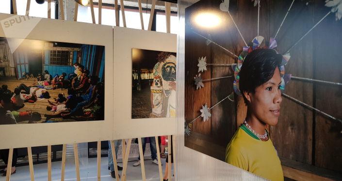 Fotografias da exposição Amazonas, Moscou, 6 de junho de 2019