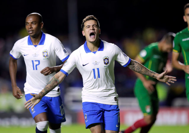 Philippe Coutinho marcou dois gols na goleada do Brasil sobre a Bolívia, na abertura da Copa América 2019
