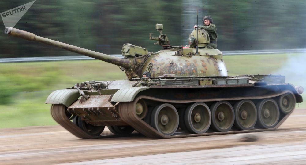 T-55 soviético, operado pelo Exército da Bielorrússia (imagem referencial)