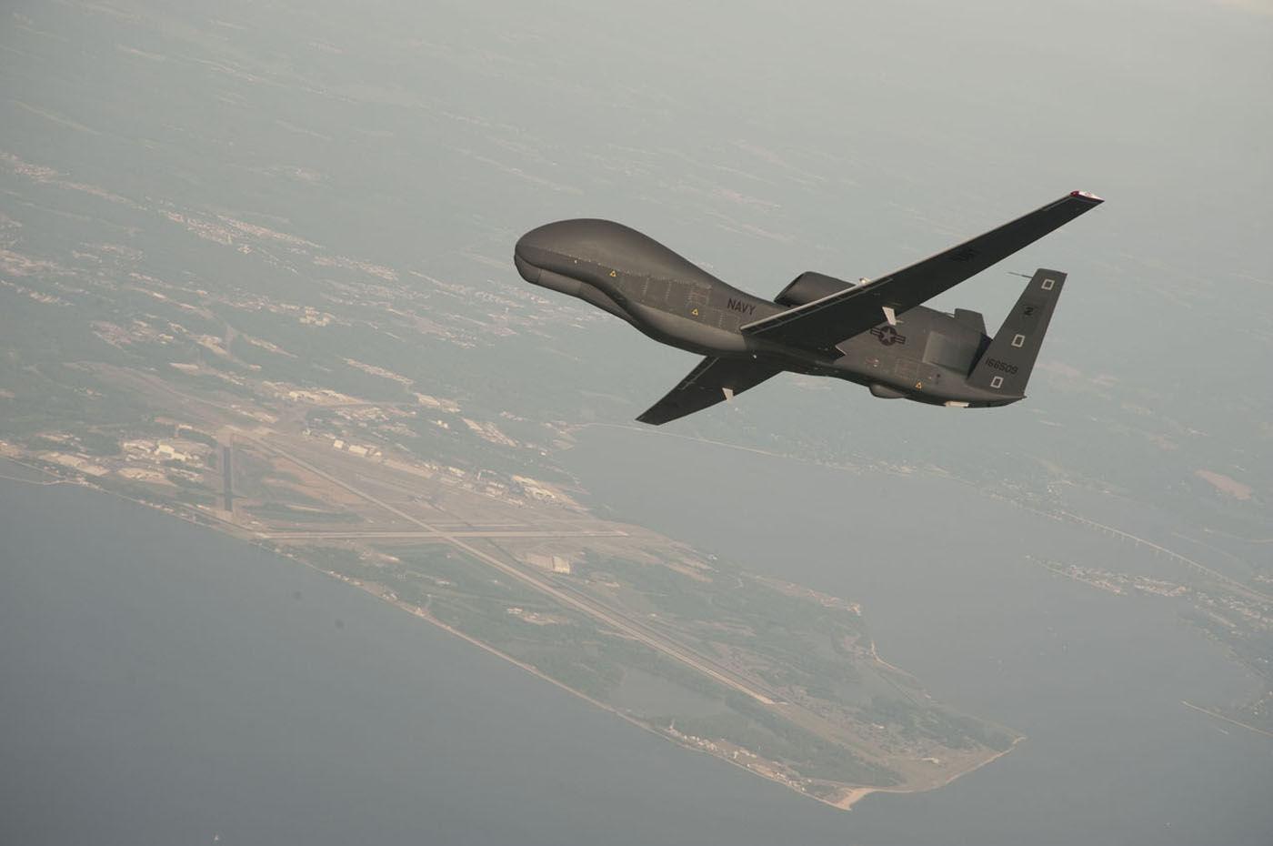 Drone Americano RQ-4 Global Hawk (imagem de arquivo)