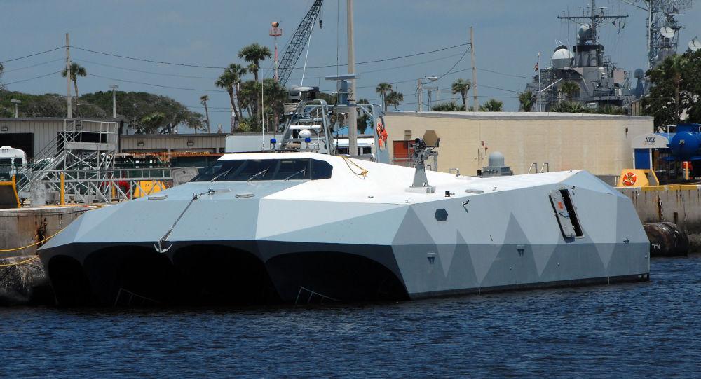 Barco M80 Stiletto da Marinha dos Estados Unidos, em 3 de junho de 2009