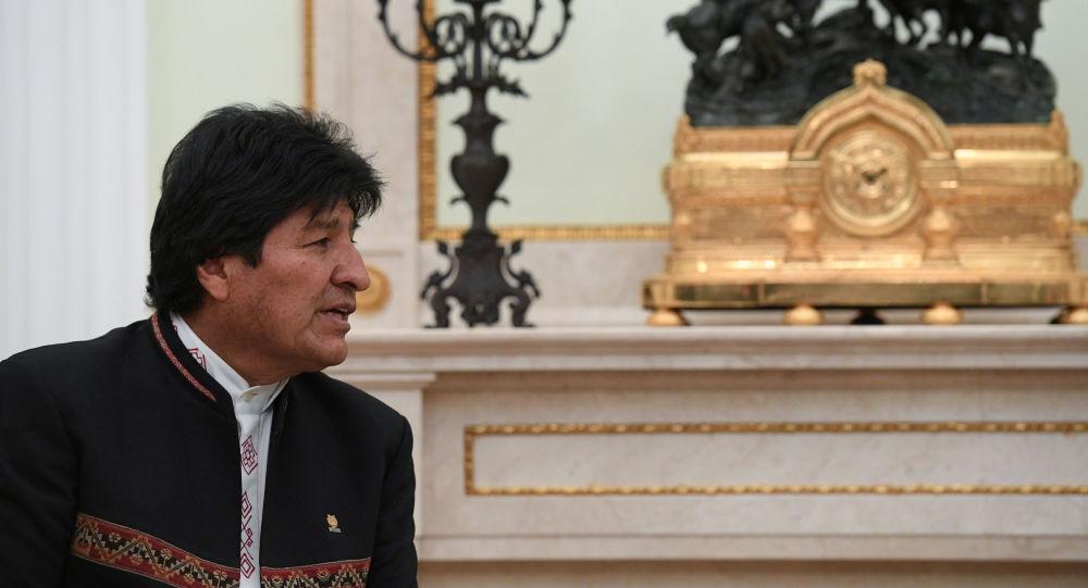 Presidente boliviano Evo Morales participa de reunião com seu homólogo russo, Vladimir Putin, no Kremlin em Moscou, Rússia, 11 de julho de 2019