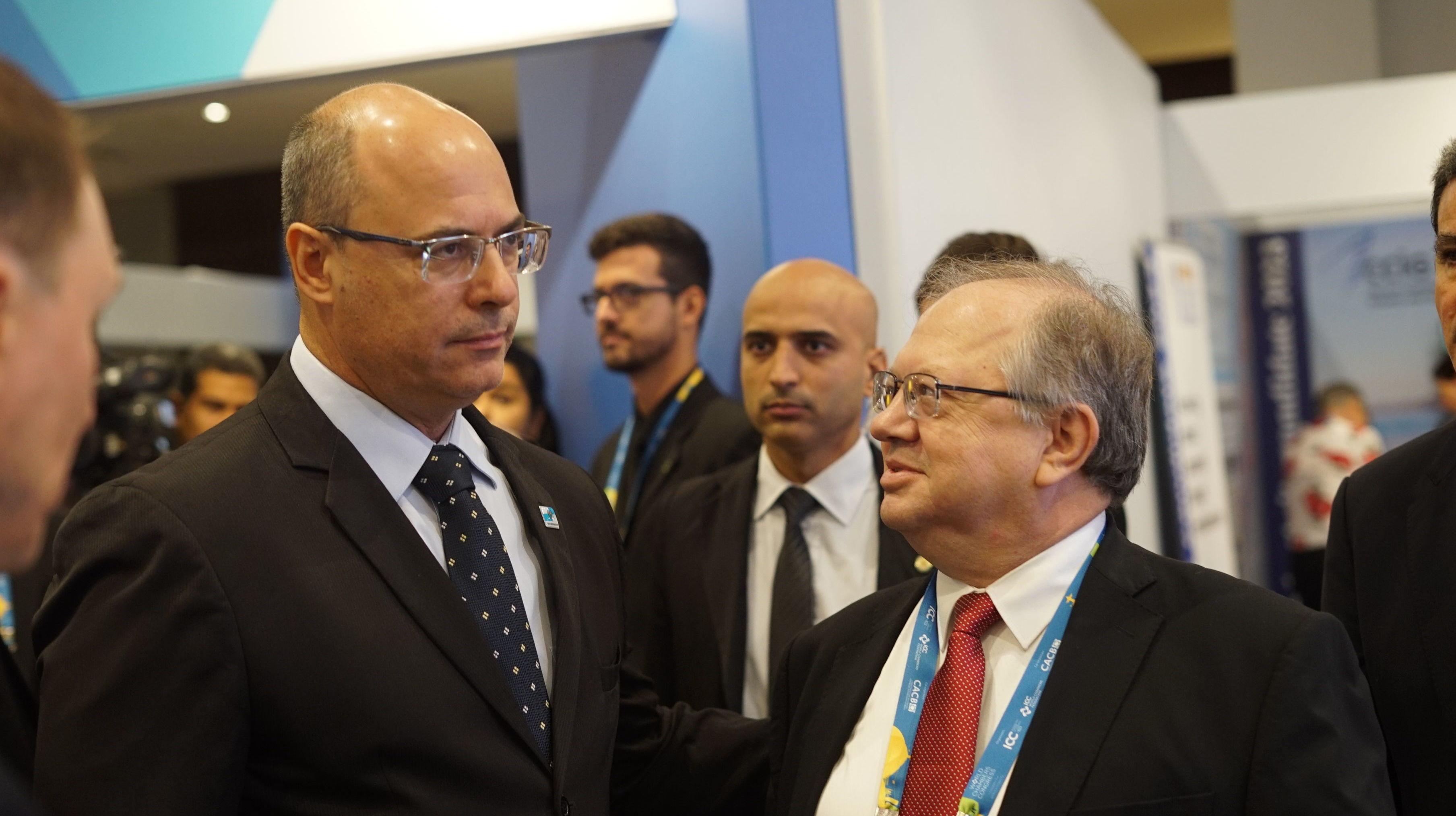 Governador do Rio de Janeiro, Wilson Witzel, conversa com Embaixador da Rússia no Brasil, Sergey Akopov