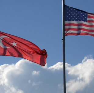 Bandeiras dos EUA e da Turquia