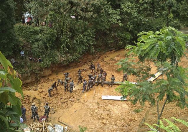 Deslizamento na Índia (foto de arquivo)