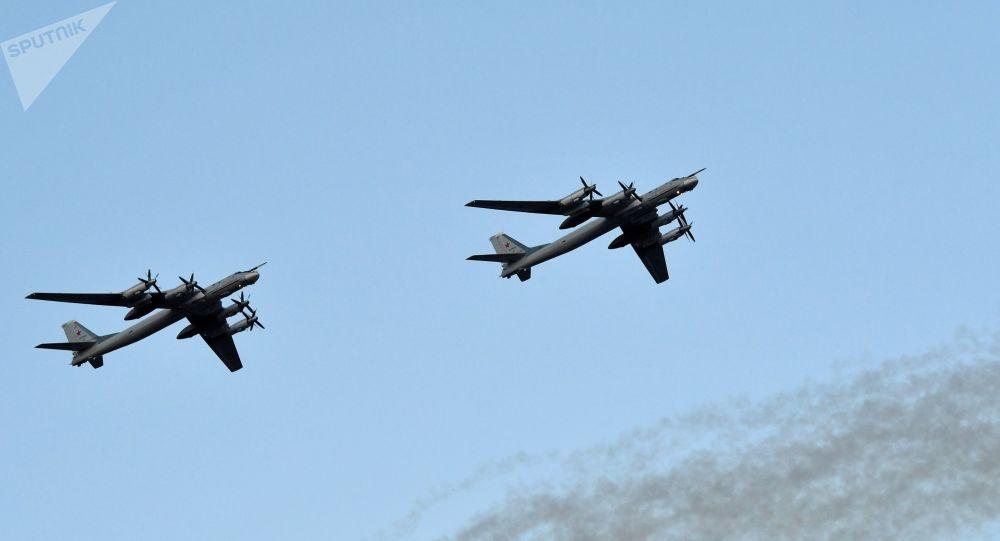 Bombardeiros estratégicos russo Tu-95MS