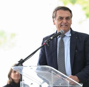 Jair Bolsonaro faz discurso no Rio Grande do Sul