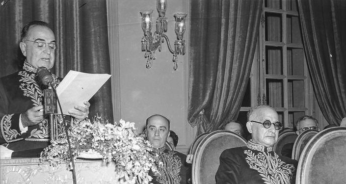 Posse de Getúlio Vargas como membro da Academia Brasileira de Letras em 1943.