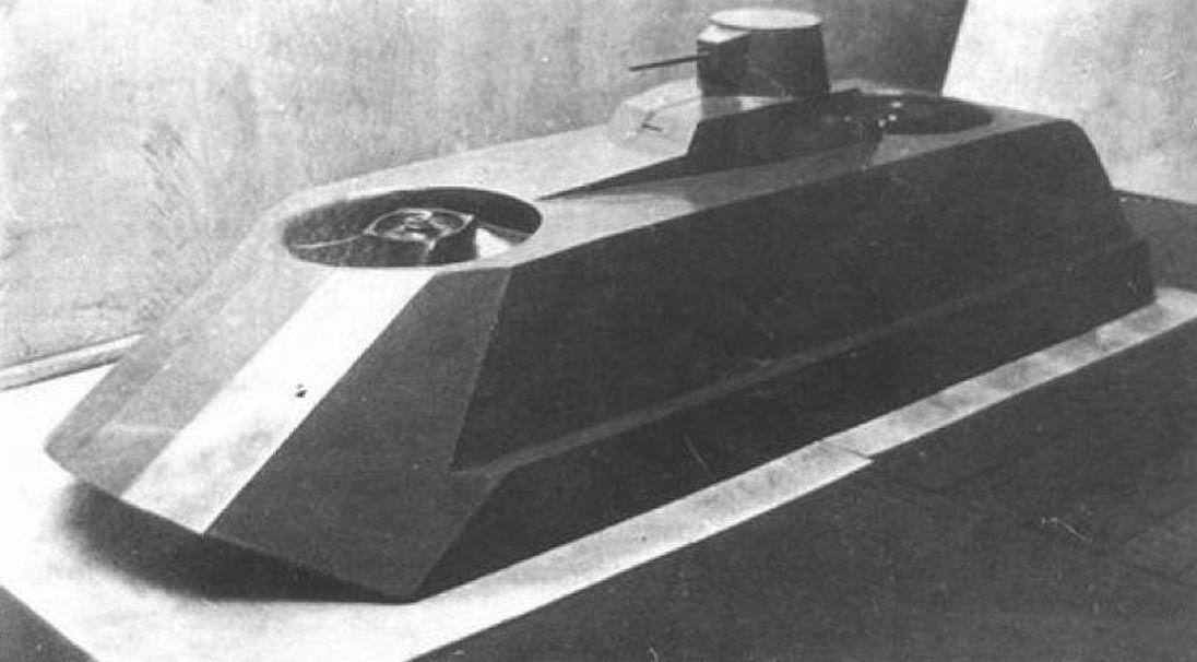 Tanque experimental soviético conhecido nos documentos como Tanque anfíbio voador