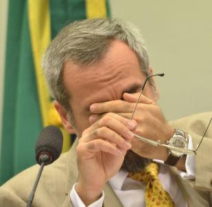 Abraham Weintraub, ministro da Educação durante apresentação e debate do projeto Future-se, do Ministério da Educação, na comissão de finanças e tributação da Câmara dos Deputados, em Brasilia no dia 28 de agosto de 2019.