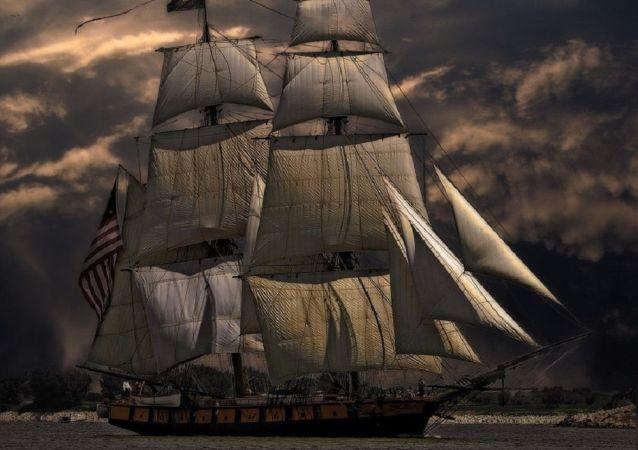 Um navio a vela (imagem referencial)
