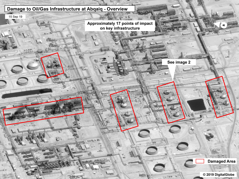 Danos às instalações de Abqaiq