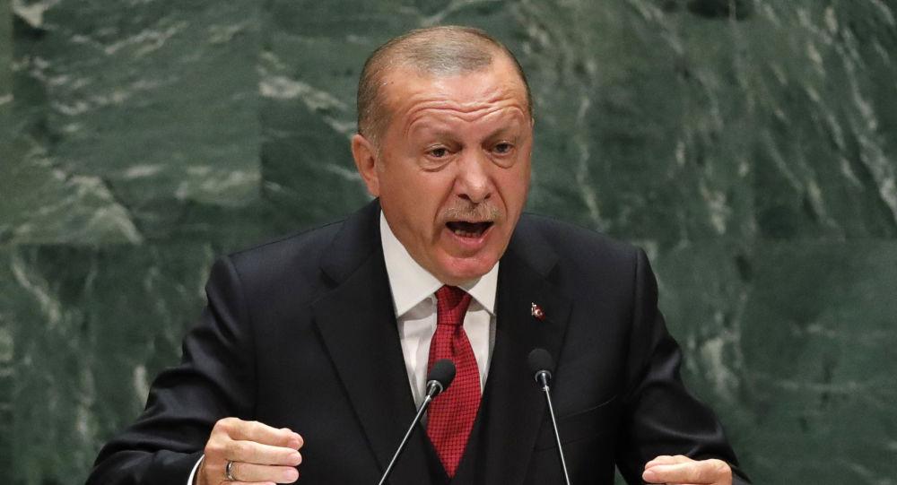 Presidente turco Recep Tayyip Erdogan fala perante a Assembleia Geral da ONU