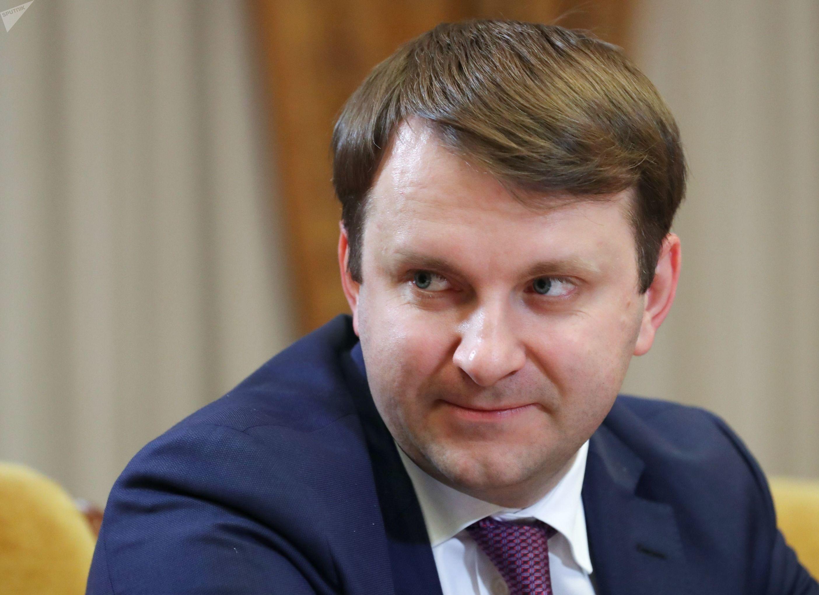 Ministro do Desenvolvimento da Rússia, Maksim Oreshkin, discute medidas para fortelecer o crescimento econômico russo, em 8 de outubro de 2019