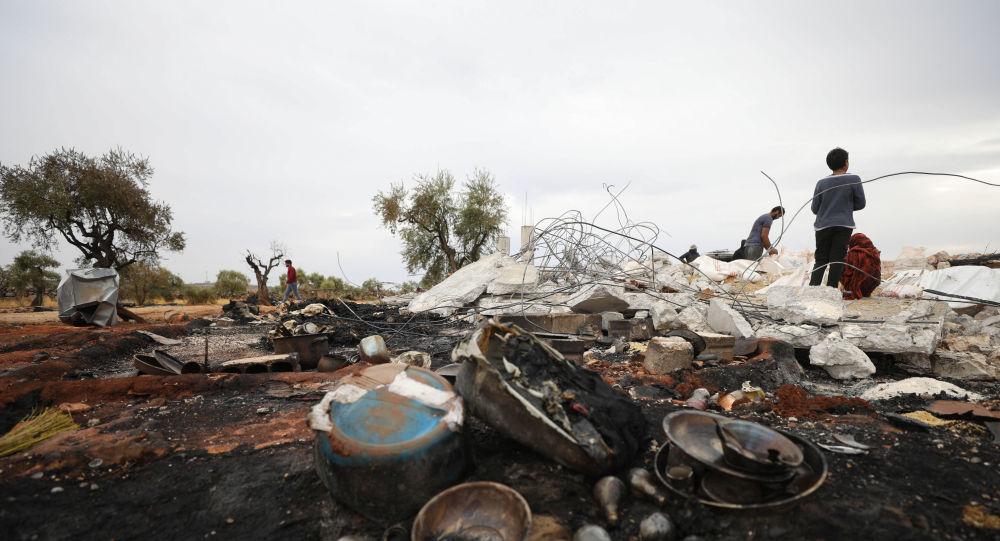 Possível local da operação norte-americana que teria assassinado Abu Bakr al-Baghdadi, no nordeste da Síria, no dia 28 de outubro de 2019