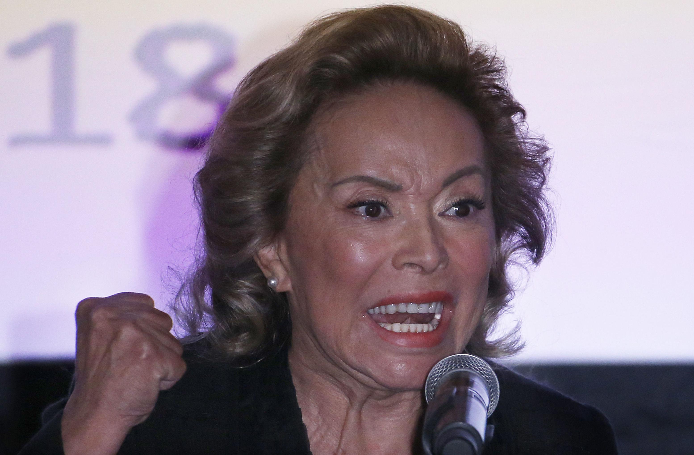 Elba Esther Gordillo, líder sindical e política mexicana na Cidade do México em 2018