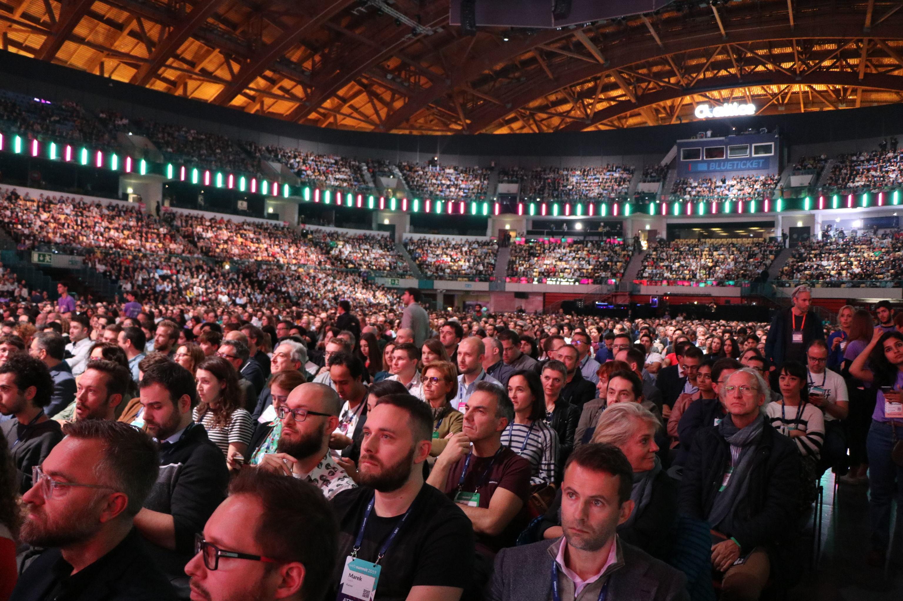 Altice Arena lotada em Lisboa para a Web Summit 2019.