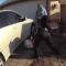 Filhote de jacaré dá susto épico ao sair debaixo de carro