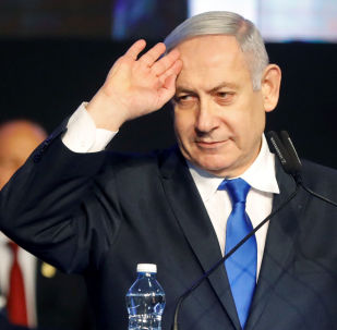 Primeiro ministro de Israel, Benjamin Netanyahu se pronuncia a membros do seu partido enquanto tenta negociar uma coalisão para seguir no comando de Israel, em 17 de novembro de 2019