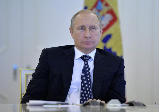 O presidente da Federação da Rússia, Vladimir Putin