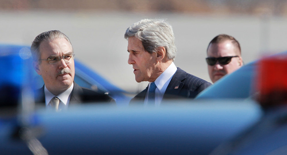 O secretário de Estado dos EUA, John Kerry