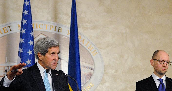 Secretário de Estado dos EUA John Kerry visita Kiev