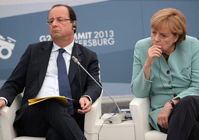 Angela Merkel e François Hollande