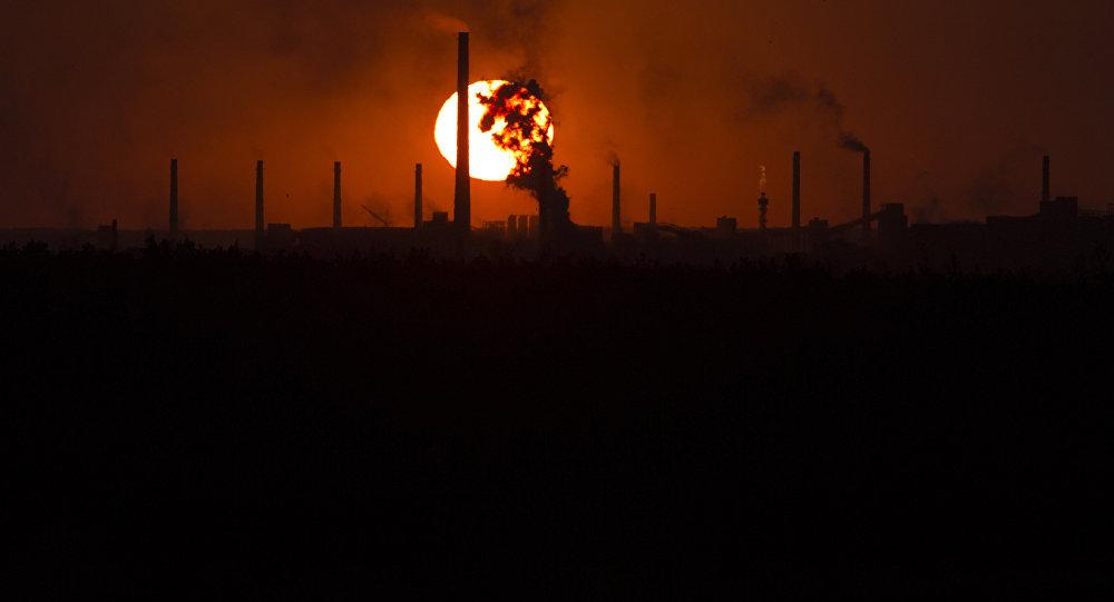 Fábrica química em Donetsk