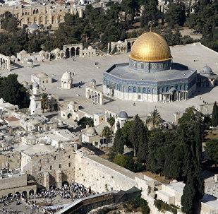 Nobre Santuário ou Monte do Templo, na Cidade Velha de Jerusalém
