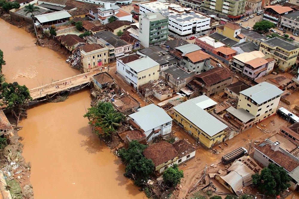 A cidade de Rio Casca é um dos locais mais castigados pela chuva no estado.