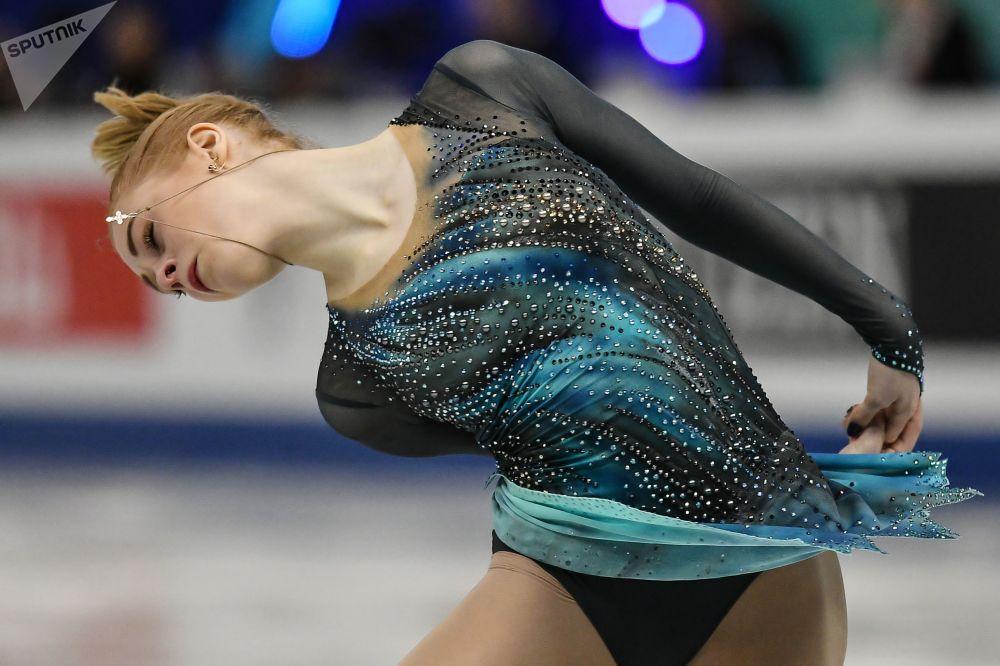 Patinação artística da atleta russa, Daria Panenkova