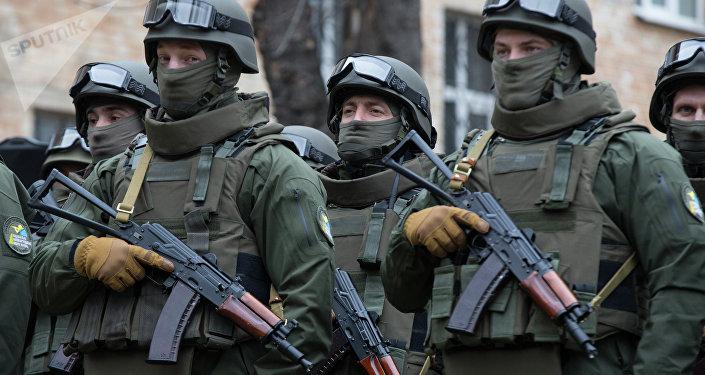 Agentes da NABU em Kiev, foto de arquivo