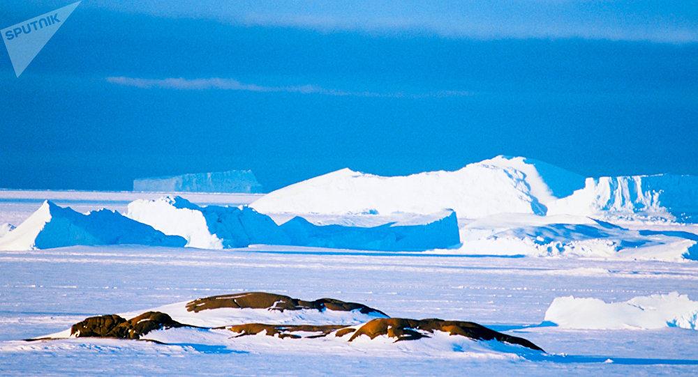Paisagem da Antártida