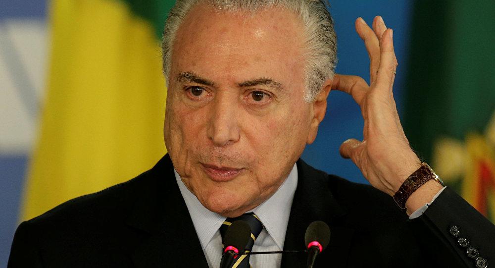 Presidente do Brasil, Michel Temer, no Palácio do Planalto em Brasília