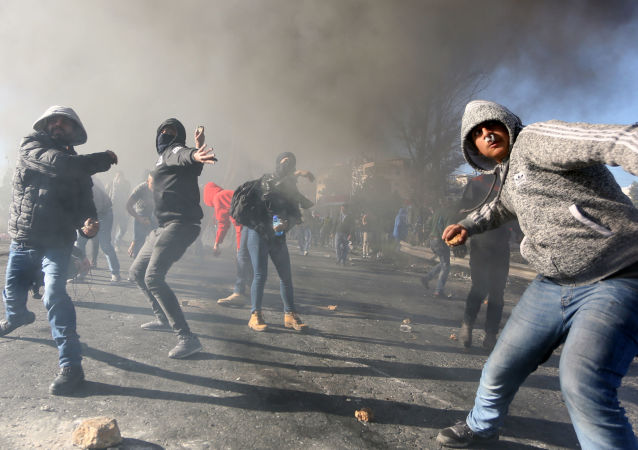 Protestos na Palestina contra decisão de Trump sobre Jerusalém