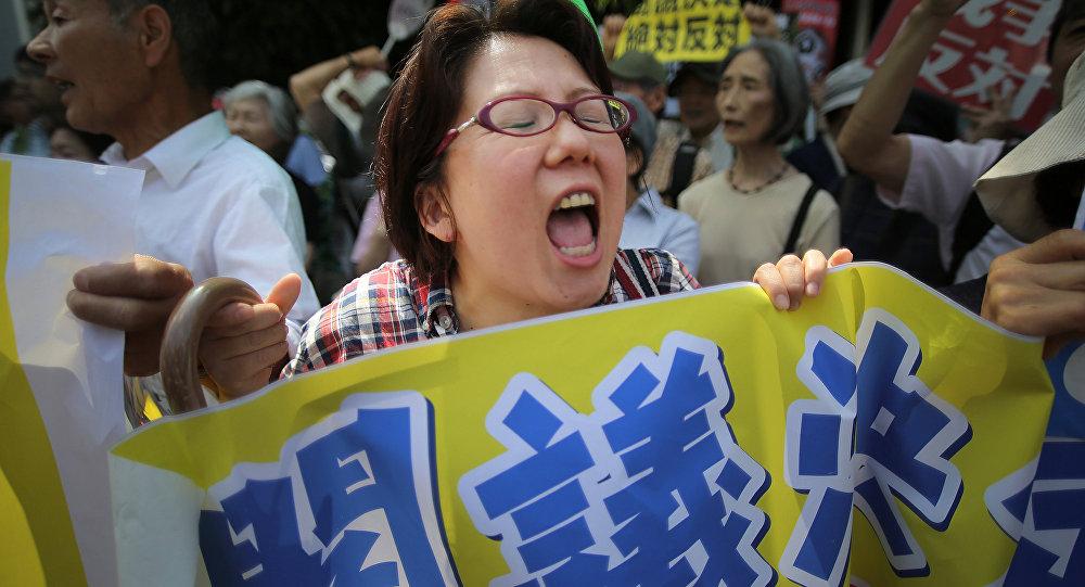 Reformas da defesa provocam protestos no Japão