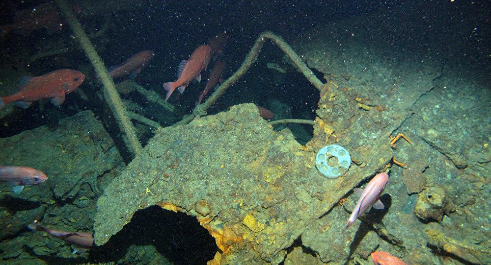 O que restou do submarino HMAS AE1, encontrado em 21 de dezembro de 2017
