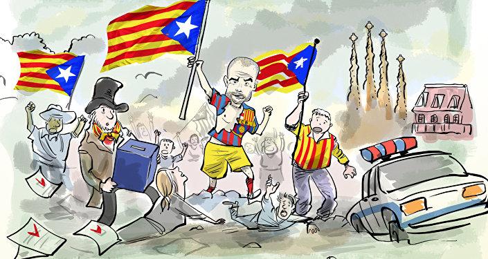 Cartão vermelho para quem apoiar Catalunha!