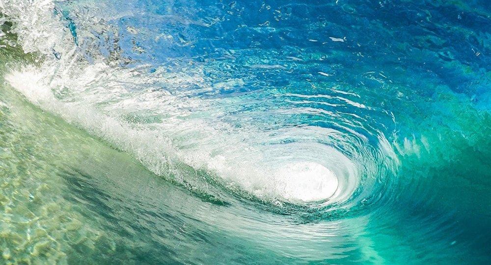 Turbilhão de água no oceano