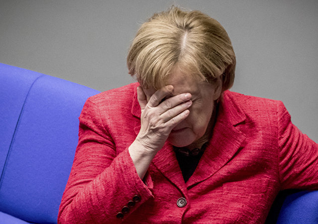 German Chancellor Angela Merkel attends a plenary session of German parliament Bundestag in Berlin, Tuesday, Nov. 21, 2017