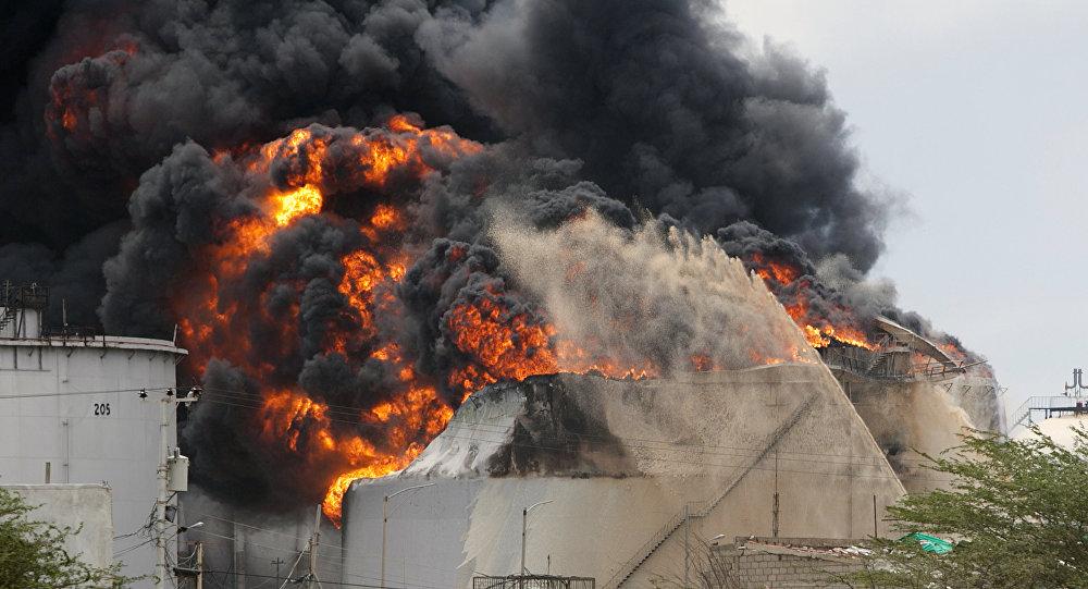 Incêndio na refinaria de Amuay em 2012 (Arquivo)