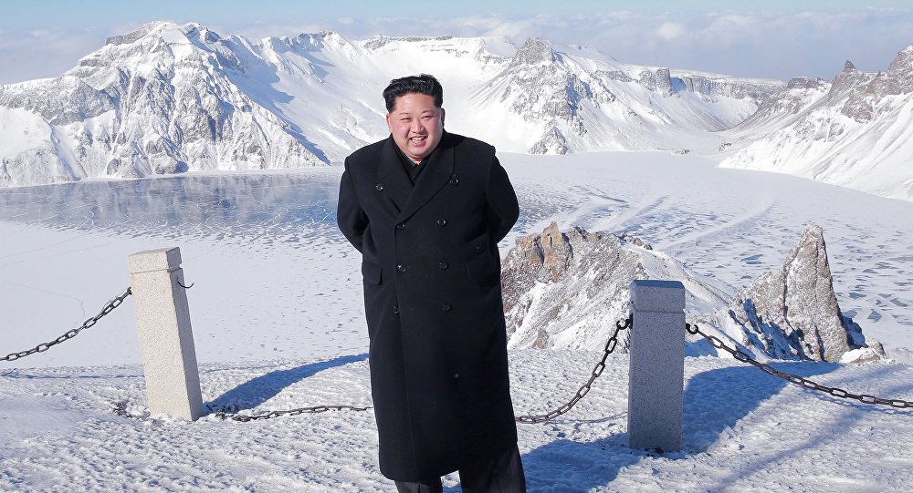 North Korean leader Kim Jong Un visits Mount Paektu in this photo released by North Korea's Korean Central News Agency (KCNA) in Pyongyang December 9, 2017