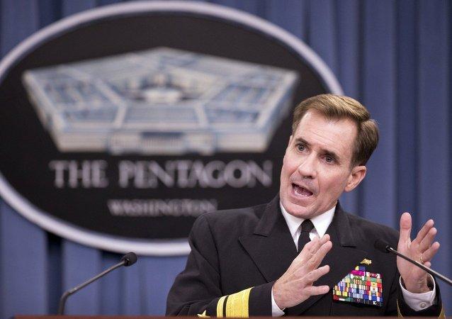 John Kirby, ex-secretário de imprensa do Pentágono e novo porta-voz do Departamento de Estado dos EUA