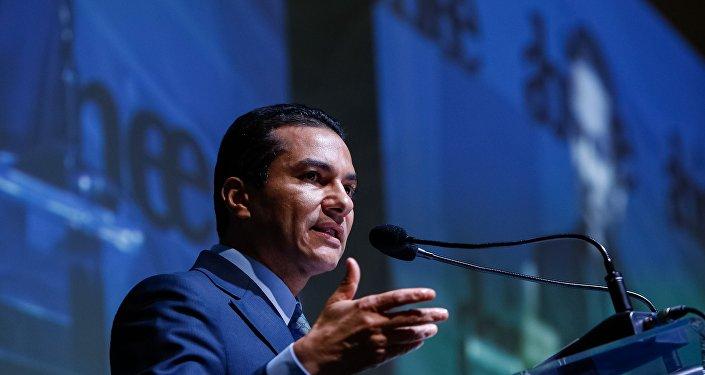 O ex-ministro da Indústria, Comércio Exterior e Serviços, Marcos Pereira em evento da Associação Brasileira da Indústria Elétrica e Eletrônica (Abinee) em São Paulo (foto de arquivo)