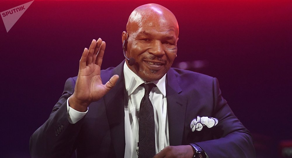 Boxer Mike Tyson at the Synergy Global Forum