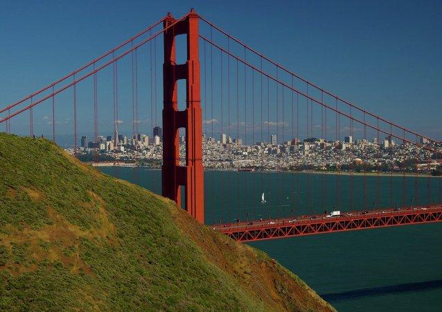 Ponte de São Francisco, na Califórnia, Estados Unidos.