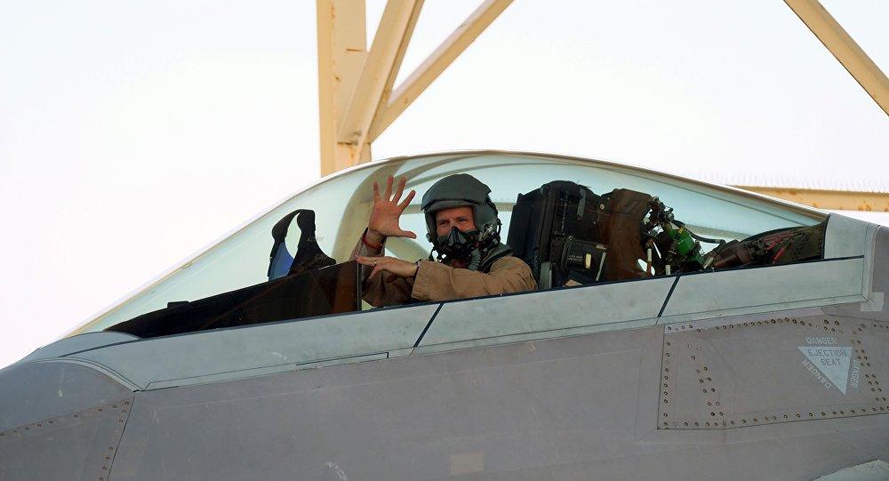 Caça F-22 Raptor da Força Aérea dos EUA