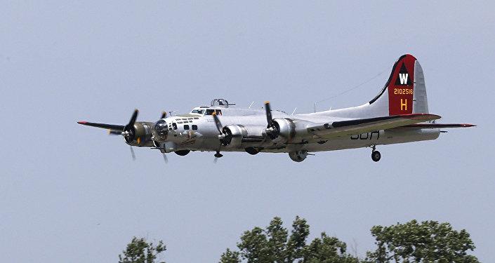Boeing B-17 Flying Fortress construído pela Boeing durante a Segunda Guerra Mundial para a Força Aérea dos EUA