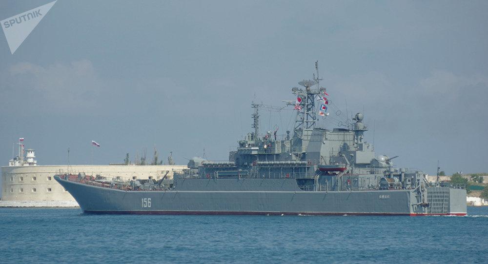 Navio de desembarque Yamal da Frota do Mar Negro da Rússia